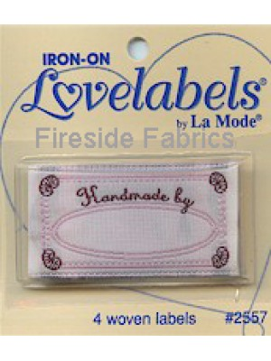 4 LABELS - HANDMADE BY - IRON ON